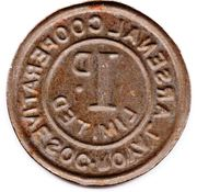 1 Penny - Royal Arsenal Cooperative Soc Limited – reverse