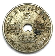 5 Cents Gulf Mining Company Store (Crab Orchard, West Virginia) – reverse
