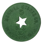 5 Cents - Merrill Stores Co. (Henlawson, West Virginia) – obverse