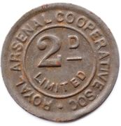 2 Pence - Royal Arsenal Cooperative Soc Limited – obverse