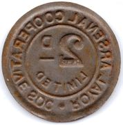 2 Pence - Royal Arsenal Cooperative Soc Limited – reverse