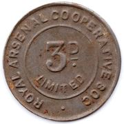 3 Pence - Royal Arsenal Cooperative Soc Limited – obverse