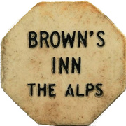 10 Cents - Brown's Inn (Alps, New York) – obverse