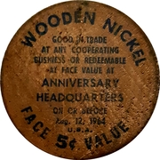 Wooden Nickel - Napanee, Ontario – obverse