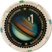 1 Dollar - Brantford Charity Casino (Brantford, Ontario) – obverse