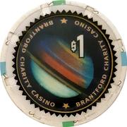 1 Dollar - Brantford Charity Casino (Brantford, Ontario) – reverse
