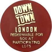 50 Cents Parking Token - Downtown London (Ontario) – obverse