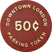 50 Cents Parking Token - Downtown London (Ontario) – reverse