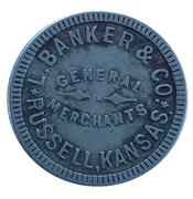 5 Cents - L. Banker & Co. (Russell, Kansas) – obverse