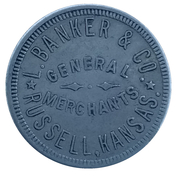 10 Cents - L. Banker & Co. (Russell, Kansas) – obverse