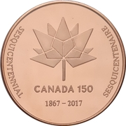 Medal - Ontario Numismatic Association (Canada 150) – reverse