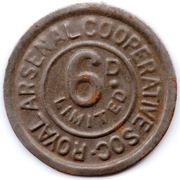 6 Pence - Royal Arsenal Cooperative Soc Limited – obverse