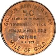 Token - Township of Teck (Kirkland Lake, Ontario) – reverse
