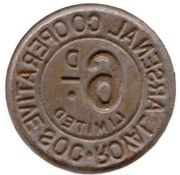 6 Pence - Royal Arsenal Cooperative Soc Limited – reverse