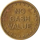 "Token - No Cash Value (Eagle looking left; ""No cash value""; Brass; 21.5 mm) – reverse"