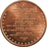 Medal - Husky Tower (Calgary, Alberta) – reverse