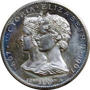 Medal - Confederation Centennial (Victoria & Elizabeth II) – obverse