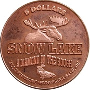 5 Dollars - Snow Lake, Manitoba – reverse