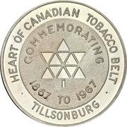 Medal - Tillsonburg, Ontario (Canadian centennial) – obverse