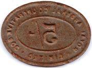 5 Shillings - Royal Arsenal Cooperative Soc Limited – reverse