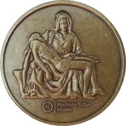 Token - Eternal Michelangelo (Mladinska Knjiga, Ljubljana) – reverse