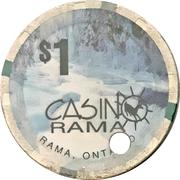 1 Dollar - Casino Rama (Rama, Ontario) – reverse