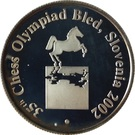 Token - 35th Chess Olympiad (Bled) – obverse