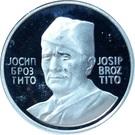 Token - Josip Broz Tito (24 mm; .925) – obverse