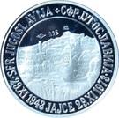 Token - Josip Broz Tito (24 mm; .925) – reverse