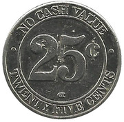 25 Cents Wash Token – reverse