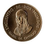 Medal - Colombus Quinto Centenario (Isabel La Católica) – obverse
