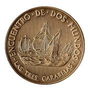 Medal - Colombus Quinto Centenario (Las Tres Carabelas) – obverse