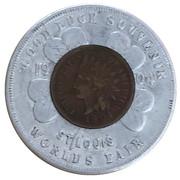 Encased Cent - 1904 St. Louis Worlds Fair – obverse