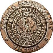 Souvenir token - Opening of the Ratskeller (Aachen, Germany) – reverse