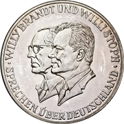 Medal - Willy Brandt / Willi Stoph – obverse
