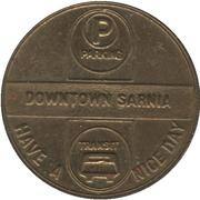 Parking / Transit Token - Downtown Sarnia (Sarnia, Ontario) – obverse