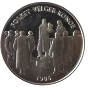 Token - The election of the king of Norway – reverse