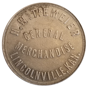 3 Dollars - H. W. Tiemeier General Merchandise (Lincolnville and Tampa, Kansas) – obverse