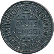 ½ Liter Bier - Bahnhofsrestauration Alois Jenisch (Rosenheim) – obverse