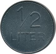 ½ Liter Bier - Bahnhofsrestauration Alois Jenisch (Rosenheim) – reverse