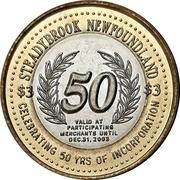 3 Dollars - Steady Brook, Newfoundland & Labrador – reverse