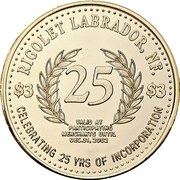 3 Dollars - Rigolet, Nunatsiavut, Labrador – obverse