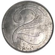 2 Peso - London Nitrate Co. (Santa Laura, Tarapacá Region) – reverse