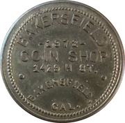 10 Cents - Bakersfield Coin Shop (Bakersfield, California) – obverse