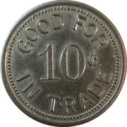 10 Cents - Bakersfield Coin Shop (Bakersfield, California) – reverse