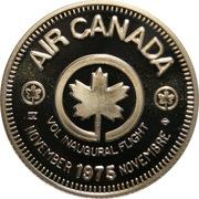 Medallion - Air Canada Inaugural Flight – obverse