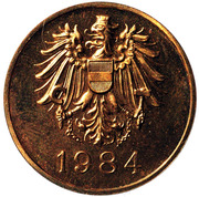 Austrian Mint Proof Set Token - Hauptmünzamt (Wien) – obverse