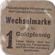 1 Goldpfennig - Hamburg-Hochbahn Transit Token – obverse