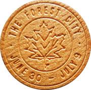 Wooden Nickel - London Centennial 1855-1955 – obverse