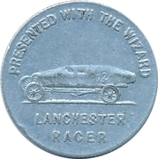 Token - Presented with the Wizard (Harry Chambers Liverpool / Lanchester Racer) – reverse